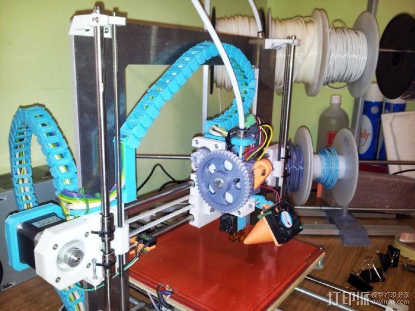 挤出机风扇 3D打印模型渲染图