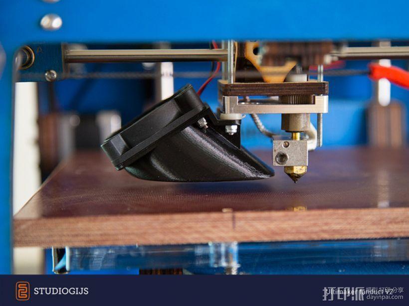 Ultimaker 挤出机通风导管 3D打印模型渲染图