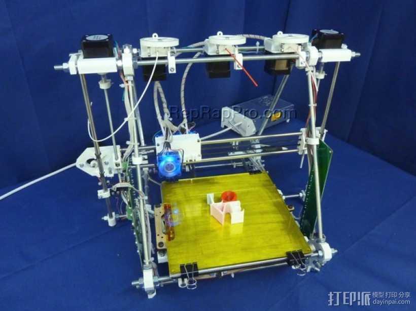 RepRapPro打印机部件 3D打印模型渲染图