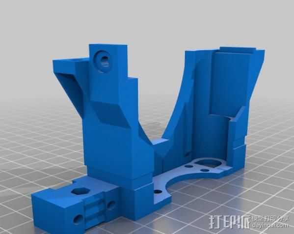 打印机X轴 挤出机 3D打印模型渲染图
