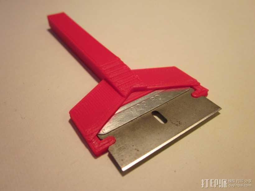 剃刀 刮刀 3D打印模型渲染图