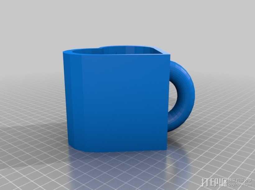 心形杯子 3D打印模型渲染图