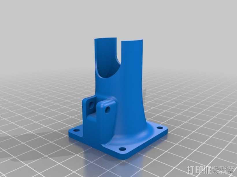 Prusa I3打印机风扇通风导管 3D打印模型渲染图