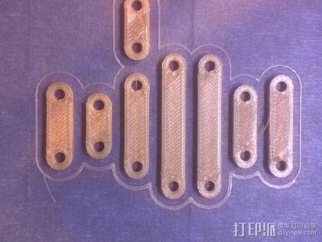 打印机制冷装置支管架 3D打印模型渲染图