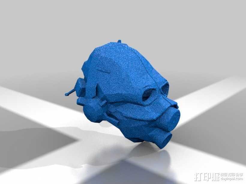 光晕 防毒面罩 3D打印模型渲染图