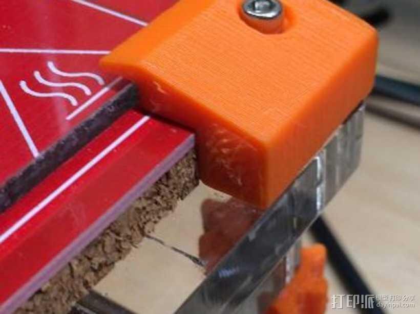 玻璃固定夹 3D打印模型渲染图