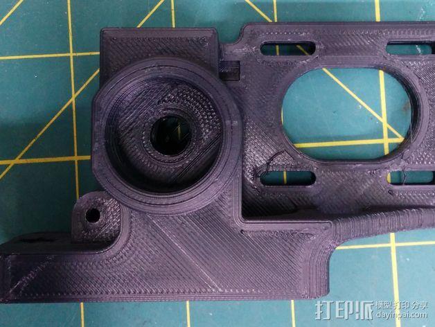 皮带驱动挤出机 3D打印模型渲染图
