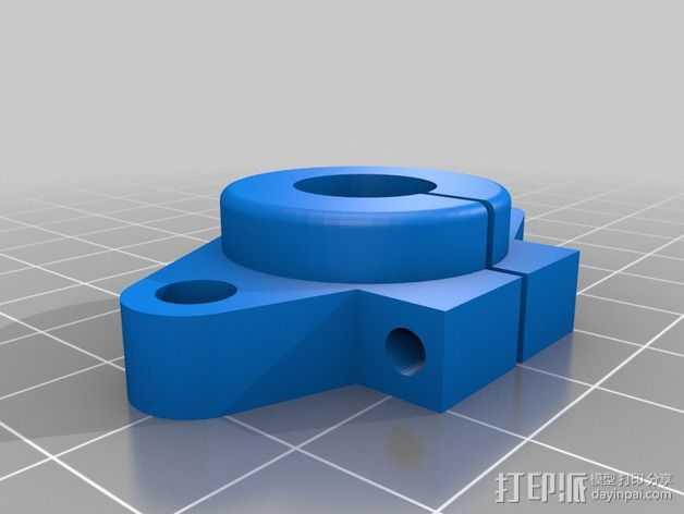 打印机部件 3D打印模型渲染图
