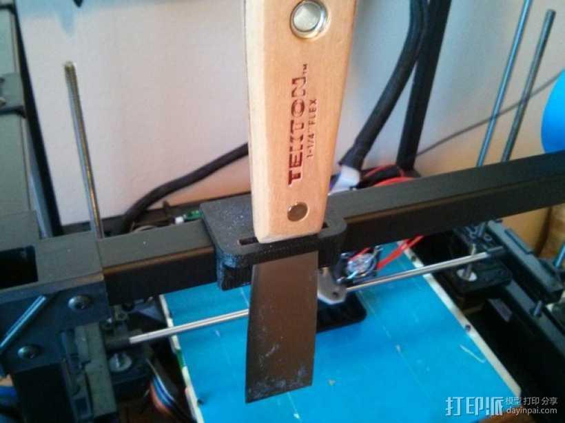 Rigidbot打印机刮刀架 3D打印模型渲染图