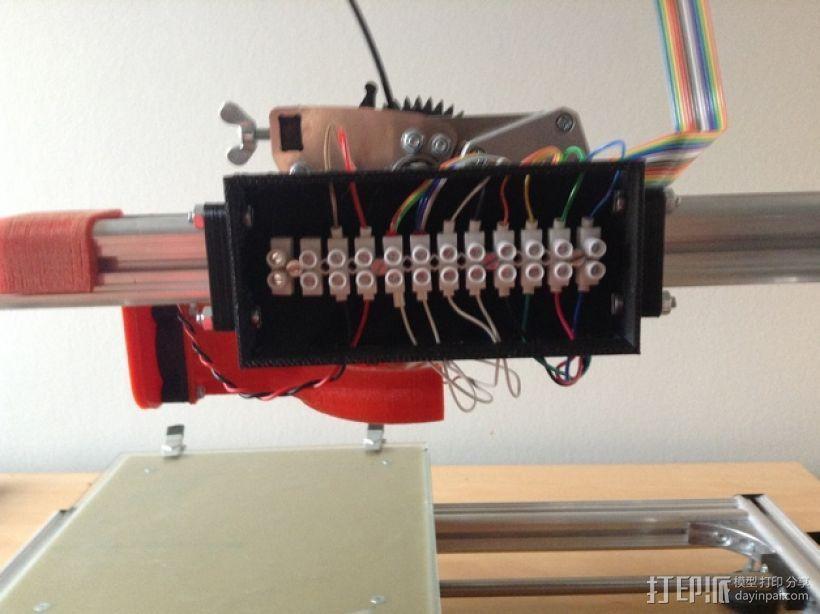 挤出机电箱 3D打印模型渲染图