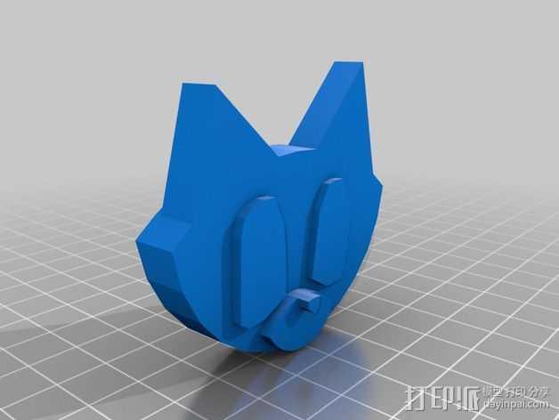 小猫模型 3D打印模型渲染图