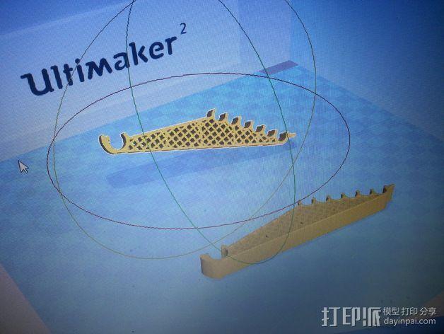 打印机轴调节器 3D打印模型渲染图