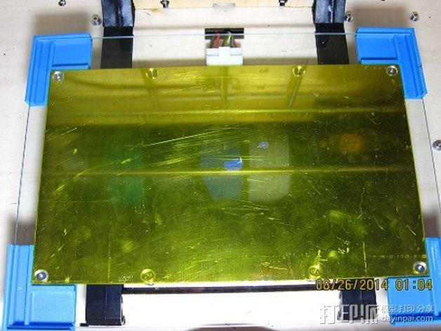 打印机打印床框架 3D打印模型渲染图
