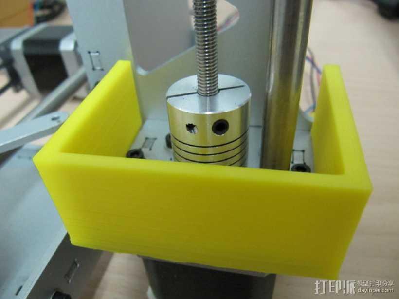 打印机Z轴联轴器外罩 3D打印模型渲染图