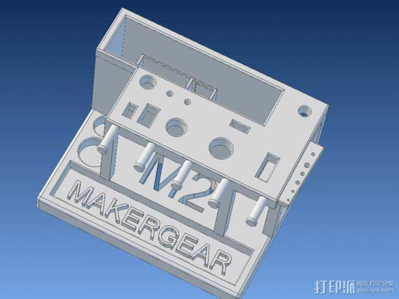 Makergear M2 打印机工具架 3D打印模型渲染图