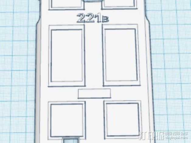 贝克街221号 三星S4手机外壳 3D打印模型渲染图