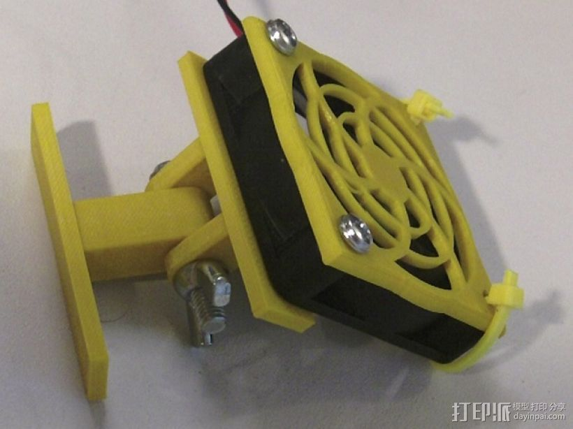 50毫米 风扇座架 3D打印模型渲染图