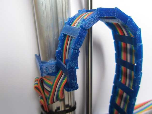 K8200打印机Z轴导缆链 3D打印模型渲染图