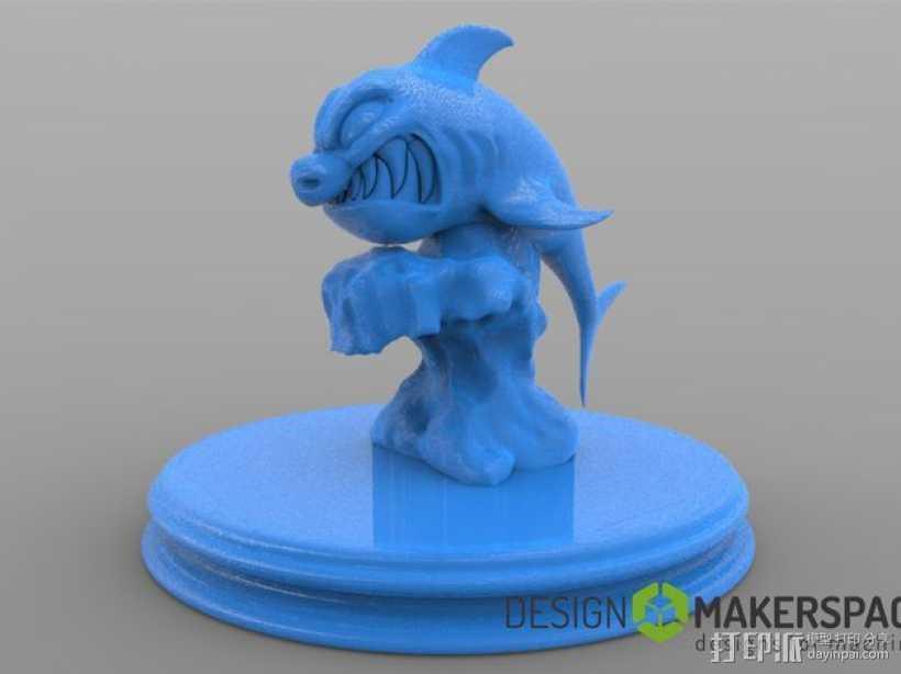 进击的鲨鱼 3D打印模型渲染图