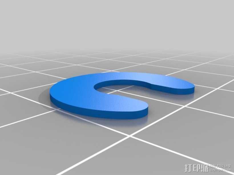 Da Vinci 3d 打印机滑轮垫片 3D打印模型渲染图