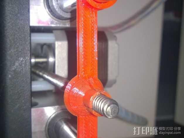 Printrbot打印机Z轴固定器 3D打印模型渲染图