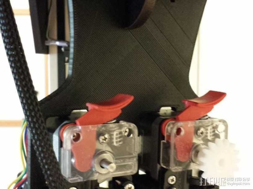 双挤出机架 3D打印模型渲染图