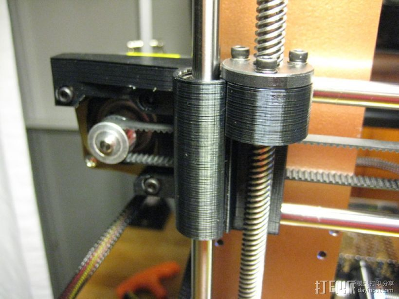 Prusa i3 打印机丝杆螺母 3D打印模型渲染图