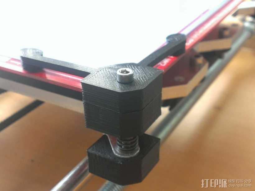 打印床角托架 3D打印模型渲染图