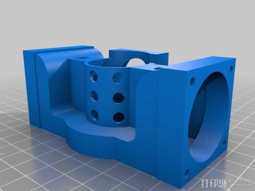 Prusa i3打印机J形头通风导管连接器 3D打印模型渲染图