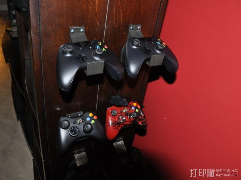 Xbox游戏机架 3D打印模型渲染图