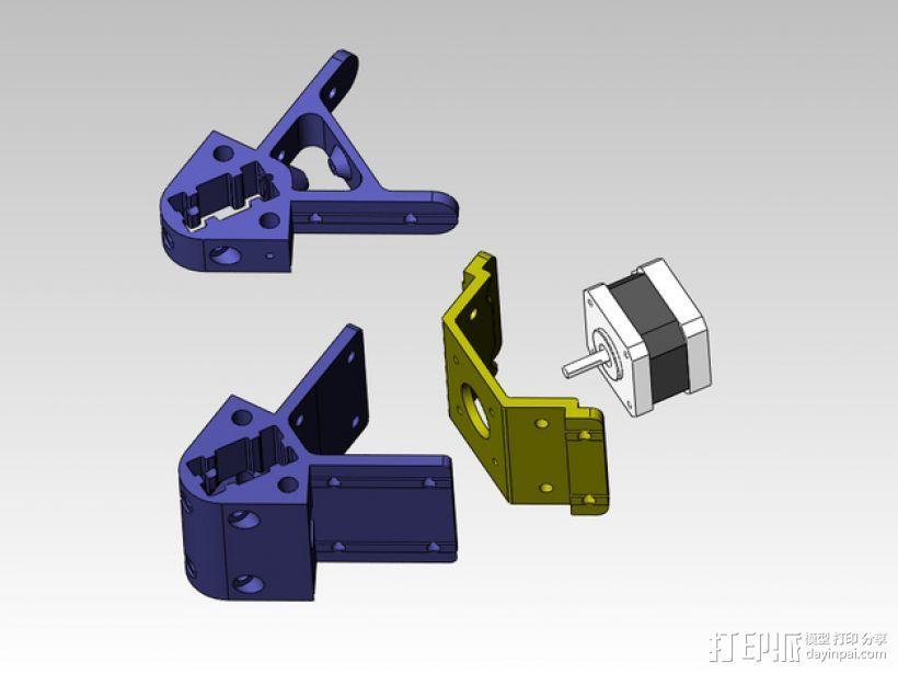 kossel 打印机部件 3D打印模型渲染图