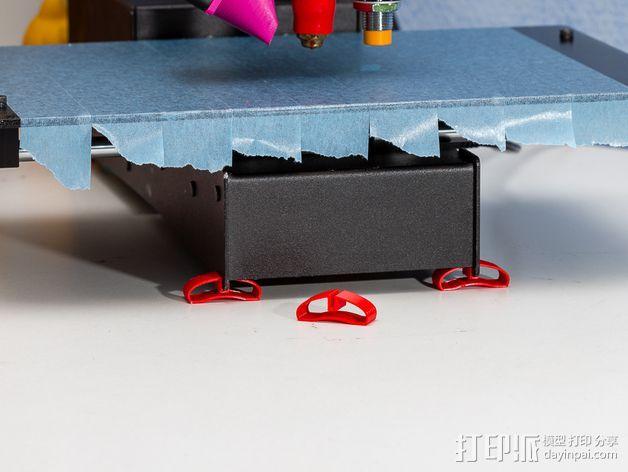 PrintrBot打印机底部稳定器 3D打印模型渲染图