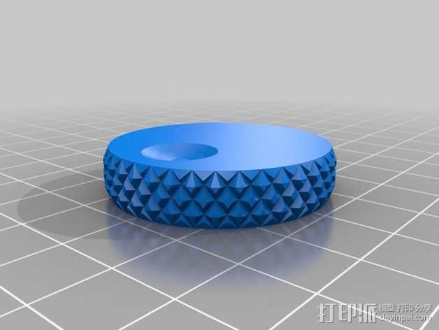 RepRap打印机控制器滚花旋钮 3D打印模型渲染图