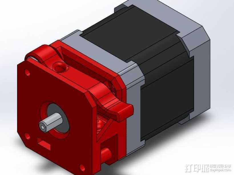Makibox直线驱动装置 3D打印模型渲染图