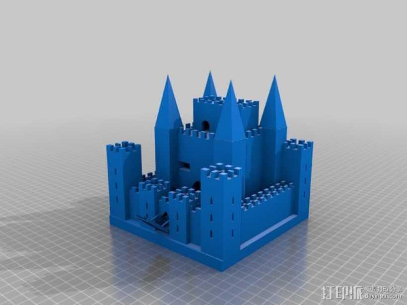 中世纪欧洲城堡 3D打印模型渲染图