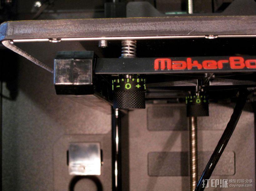打印床高度调节旋钮 3D打印模型渲染图
