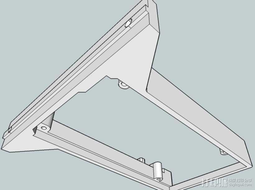 Kossel Mini打印机控制板底框 3D打印模型渲染图
