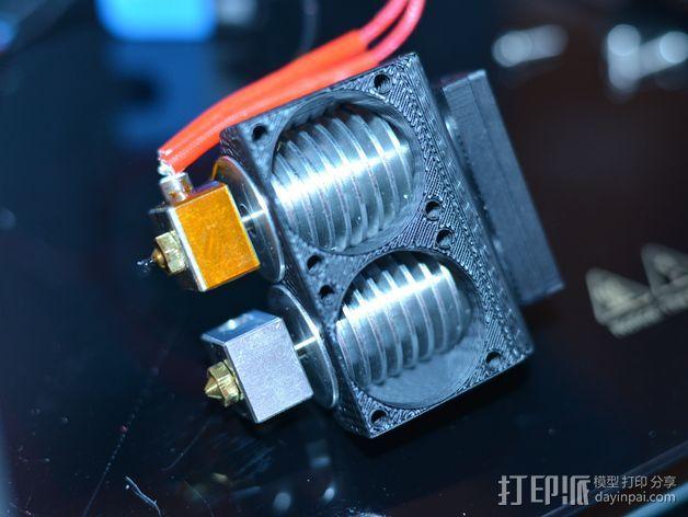 打印机喷嘴架 3D打印模型渲染图