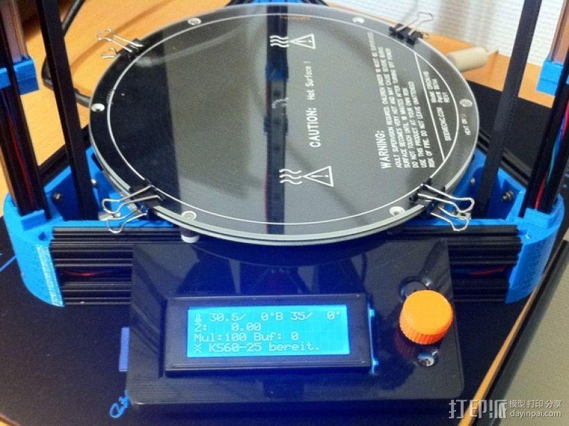 Kossel Mini打印机控制器LCD显示屏支架 3D打印模型渲染图