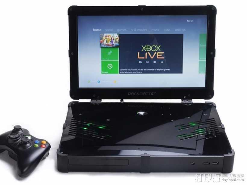 Xbox 360笔记本电脑 3D打印模型渲染图