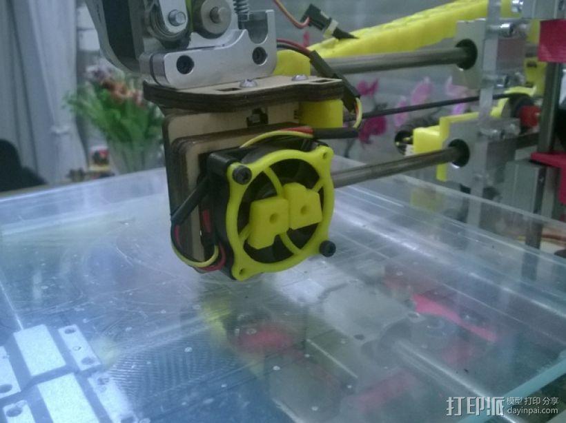 Printrbot 打印机风扇罩 3D打印模型渲染图
