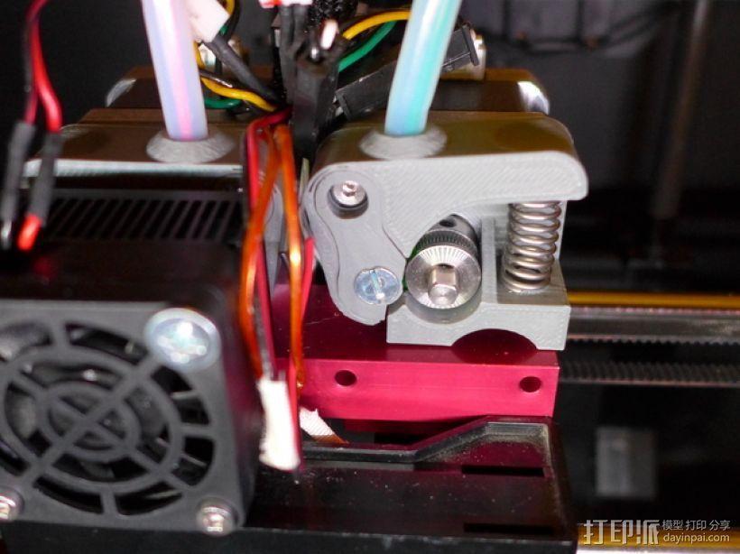 挤出机风扇架 3D打印模型渲染图