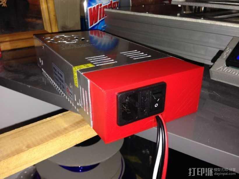 电源开关盒 3D打印模型渲染图