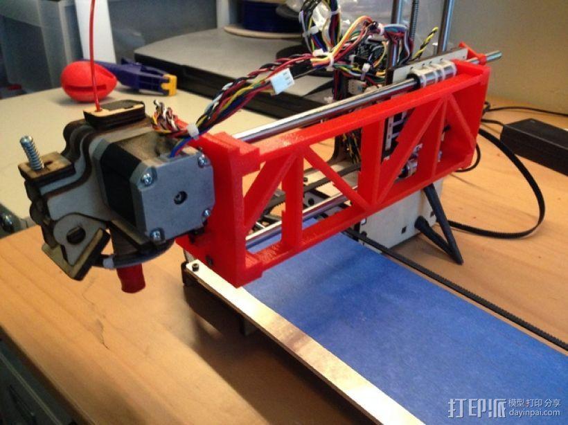 PrintrBot打印机Y轴皮带固定装置 3D打印模型渲染图