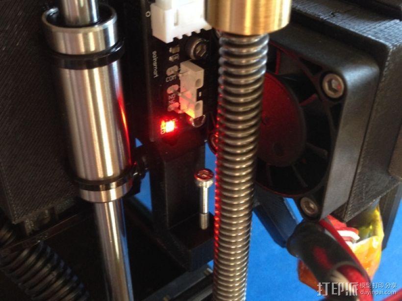 QU-BD One-Up打印机限位开关座 3D打印模型渲染图