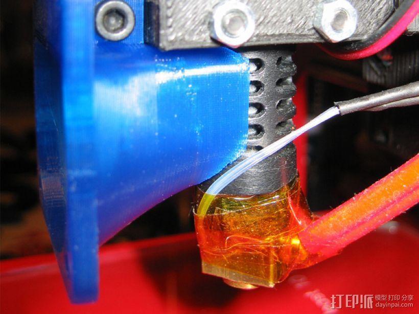 i3打印机J形头喷嘴罩 风扇导管  3D打印模型渲染图