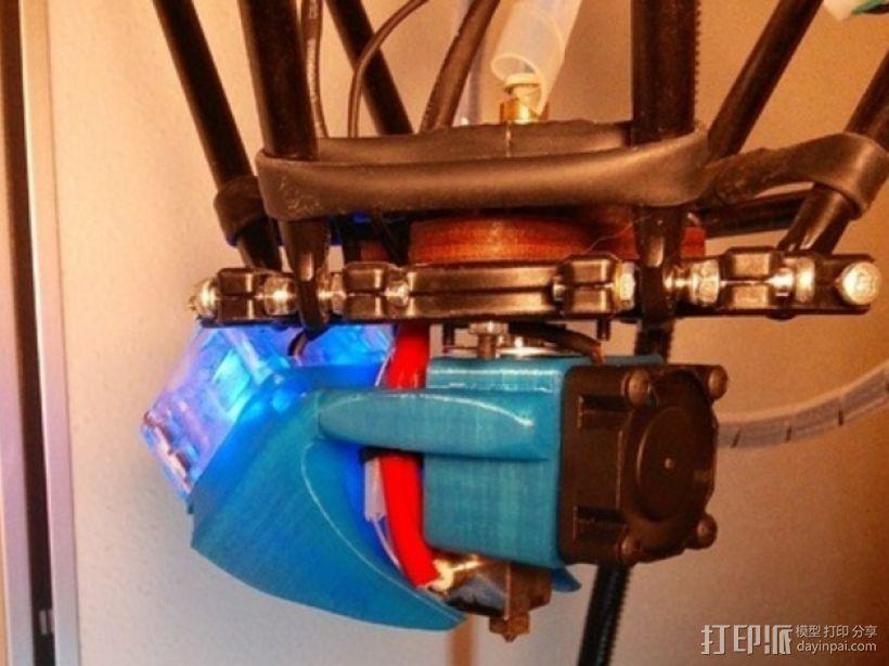 风扇通风管 3D打印模型渲染图