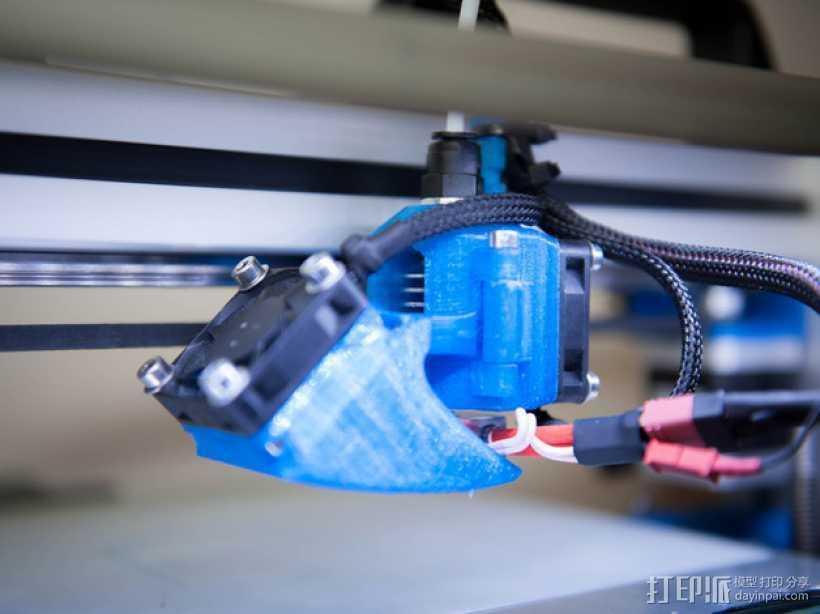挤出机风扇 风扇导管 3D打印模型渲染图