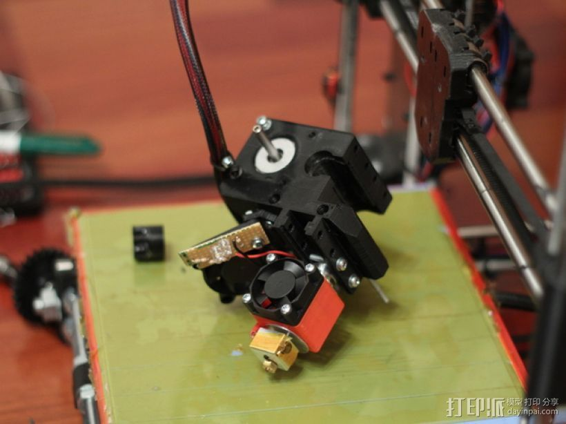 挤出机 喷嘴座 3D打印模型渲染图