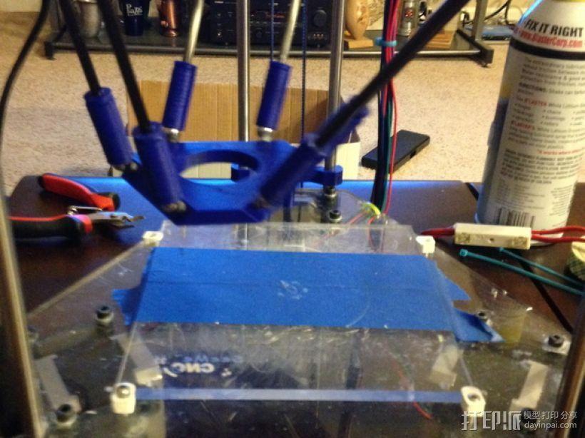 Rostocks打印机U形接头 3D打印模型渲染图